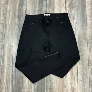 Banana Republic Short Sloan Pants Ankle Zip Career